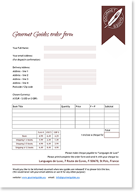Click here for your Gourmet Guides Order Form